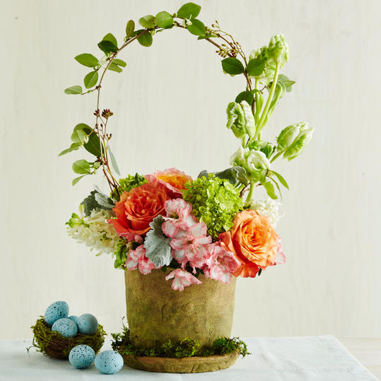 Basket flower arrangement youth incorporated