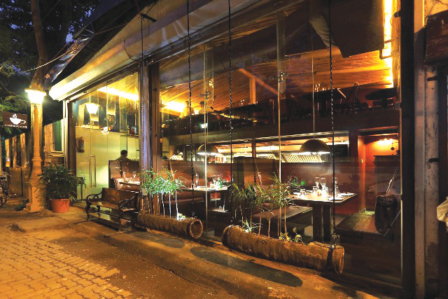 Mumbai now has a petite french cafe which is perfect for a table for