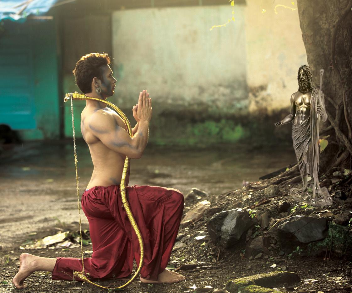 Image result for eklavya indian mythology