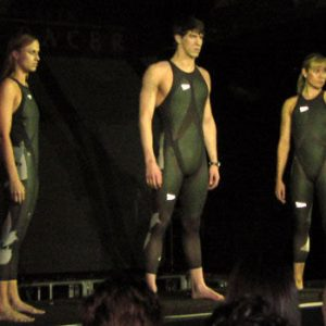 Unveiling of LZR Racer in NYC 2008-02-13 by Kathy Barnstorff swimsuit.html. Licensed under Public Domain via Wikimedia Commons