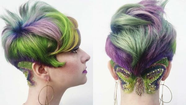 Glitter Hair Tattoo