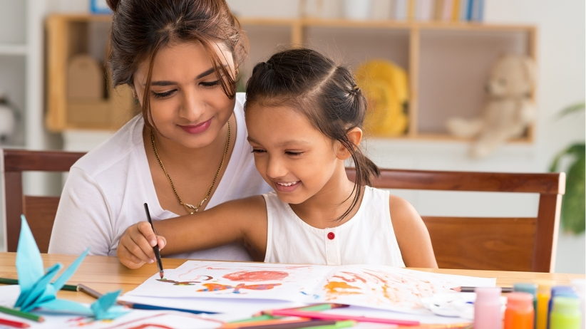 Image result for mother taught child