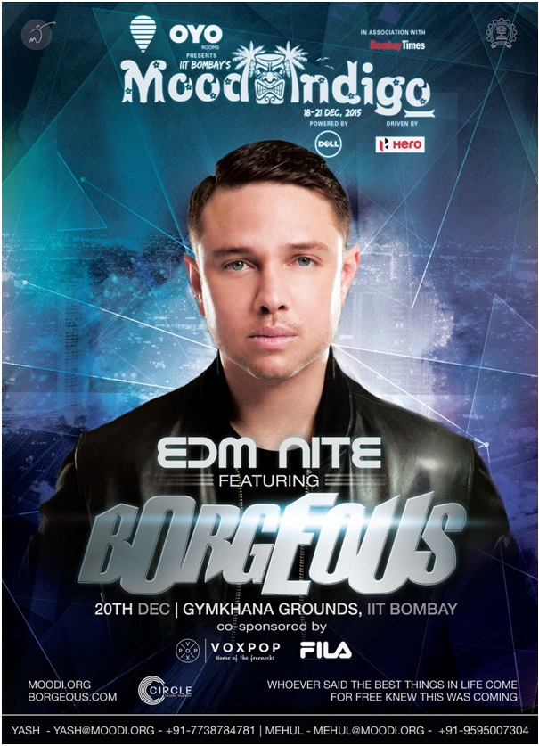 BORGEOUS set to headline the EDM night this Mood Indigo