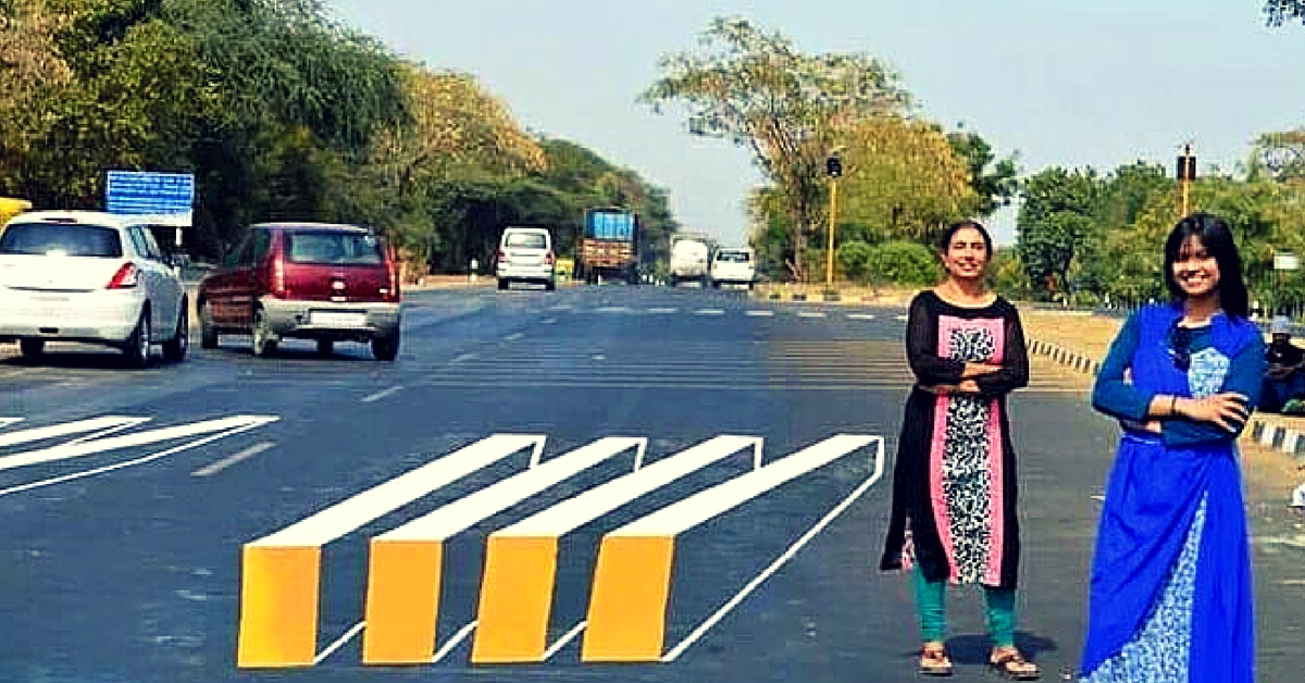 3D Zebra Crossing painted in Ahmedabad