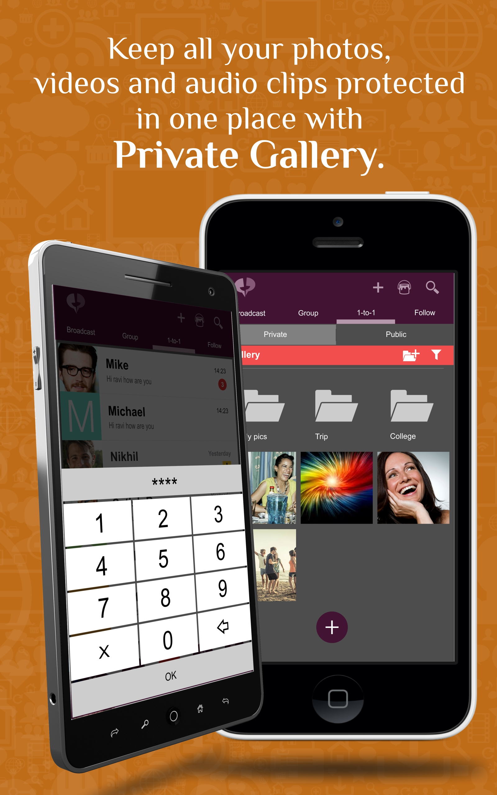 PR Screenshot of of Private Gallery