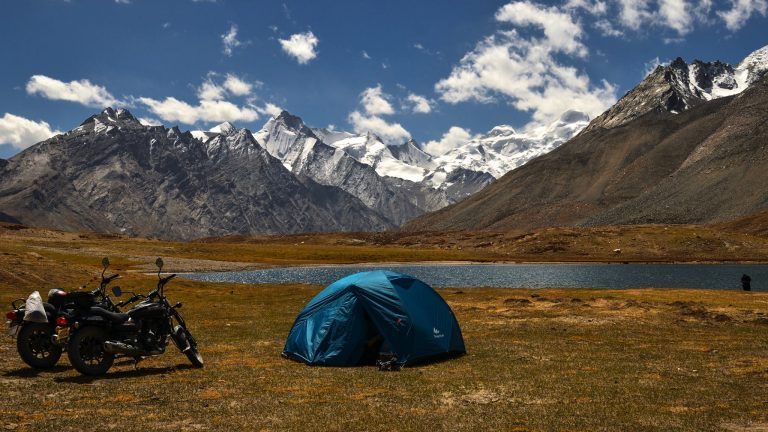 Camping at Zanskar Valley