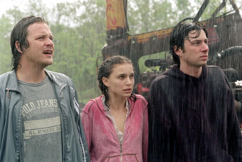 Left to Right: Peter Sarsgaard, Natalie Portman and Zach Braff in GARDEN STATE.