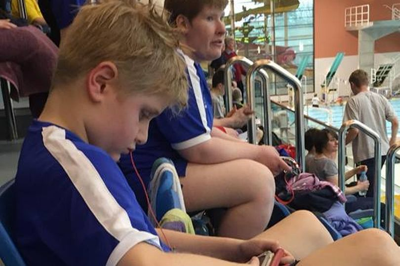 A nine-year-old autistic swimmer Rory Logan