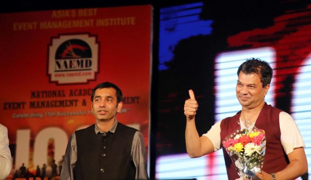 DJ Bosco with NAEMD Director, Vipul Solanki