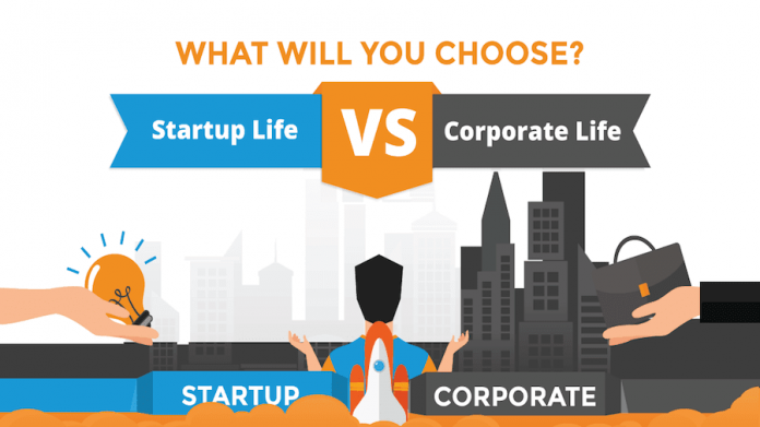 Startup Job vs. Corporate Life