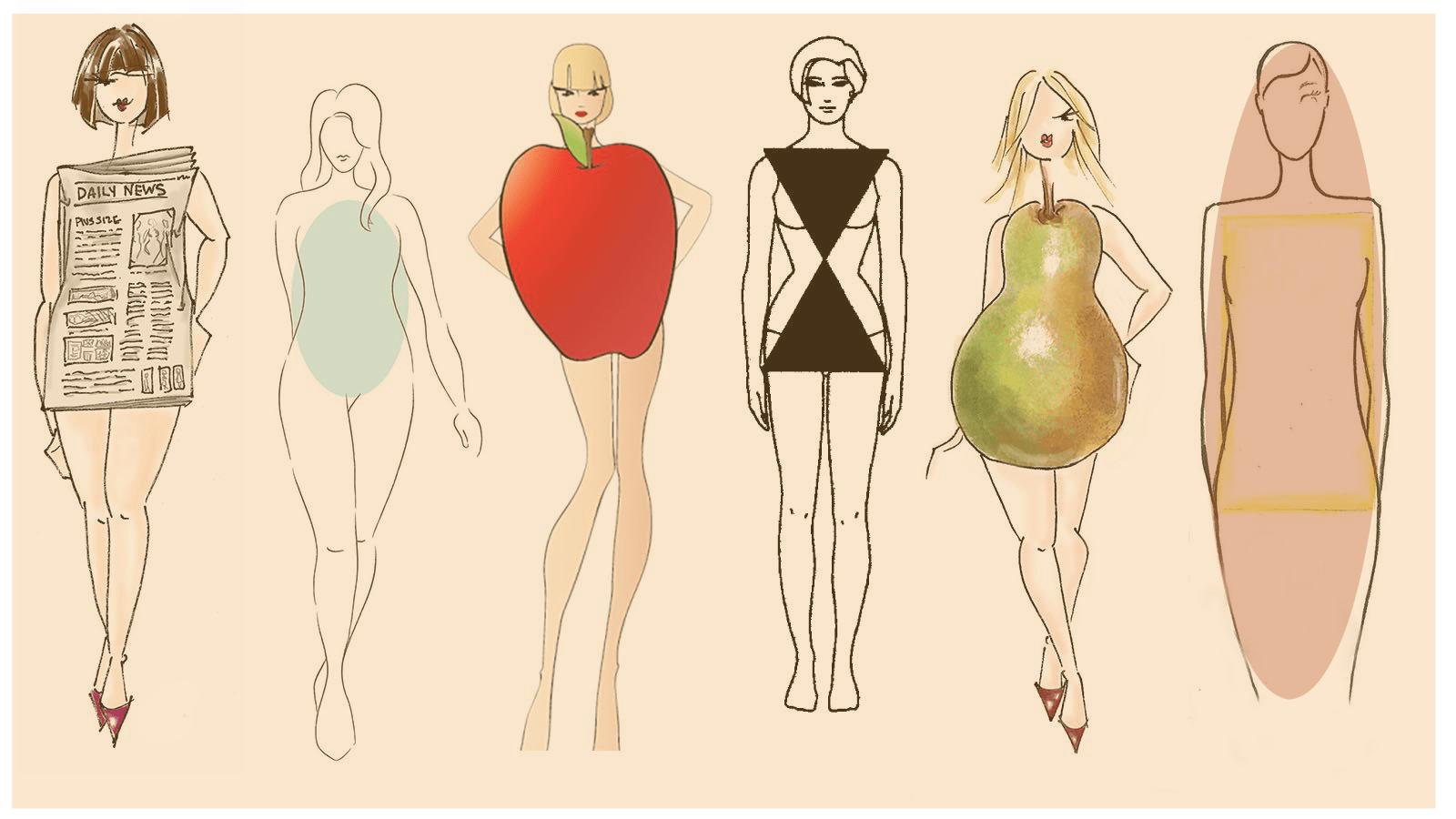 لباس عروس متناسب با اندام هر فرد کدام است- انواع فرم بدن در افراد