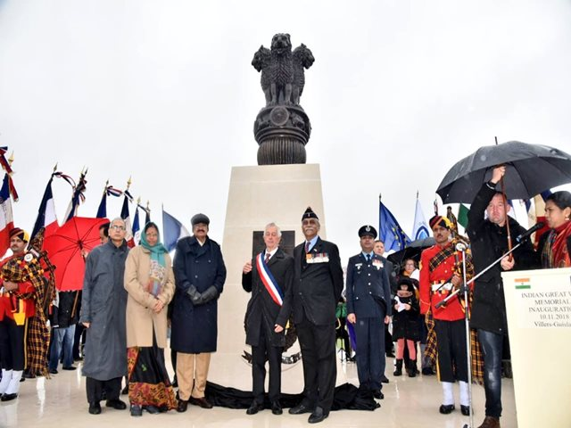 Statue Honouring Indian Soldiers Who Fought World War I Unveiled In France