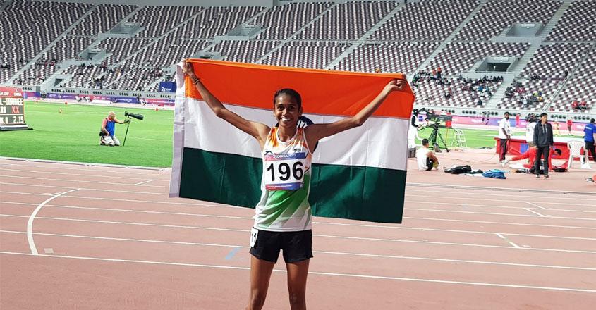 PU Chitra wins 1500m gold at Asian Athletics Championship 2019