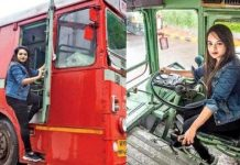 Pratiksha Das first female bus driver