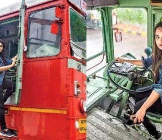 Pratiksha Das first female bus driver