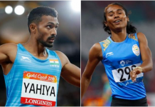 Hima Das and Muhammed Anas