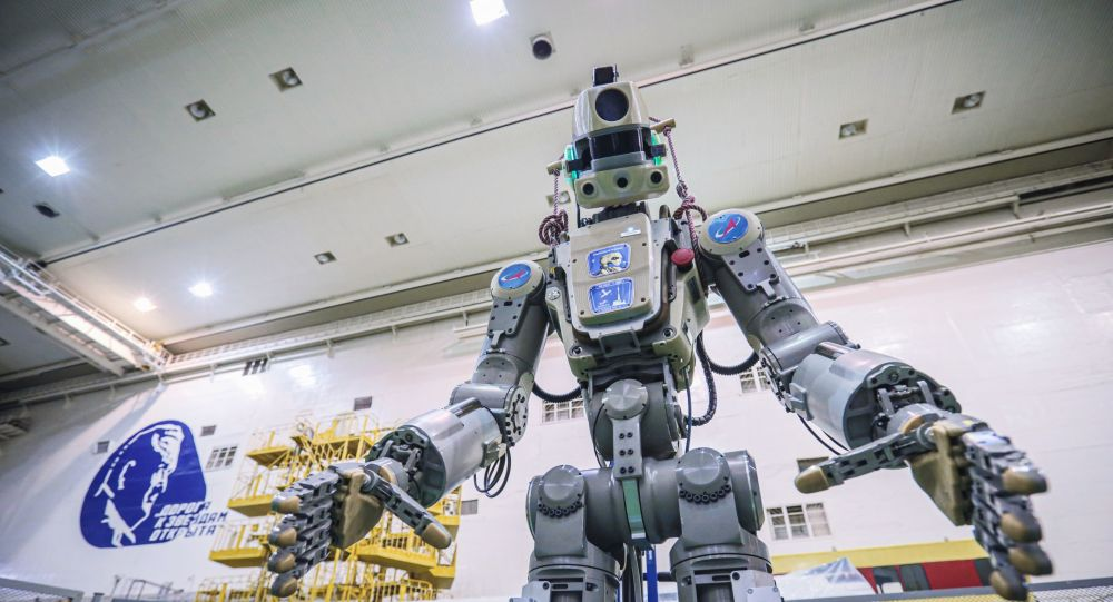First Russian humanoid robot docks at ISS