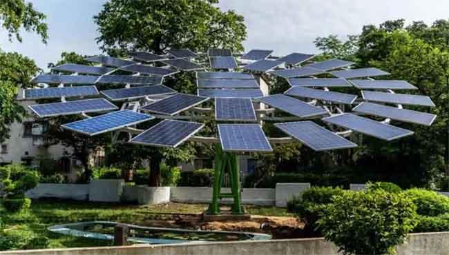 world's largest solar tree, IAF