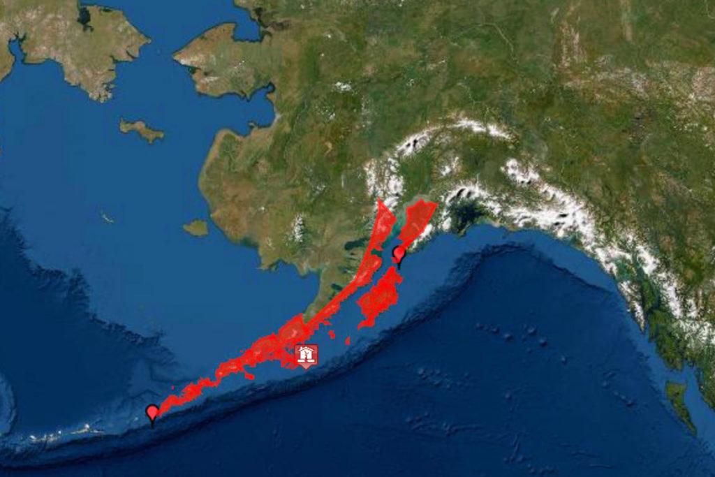 tsunami waves, Alaska,