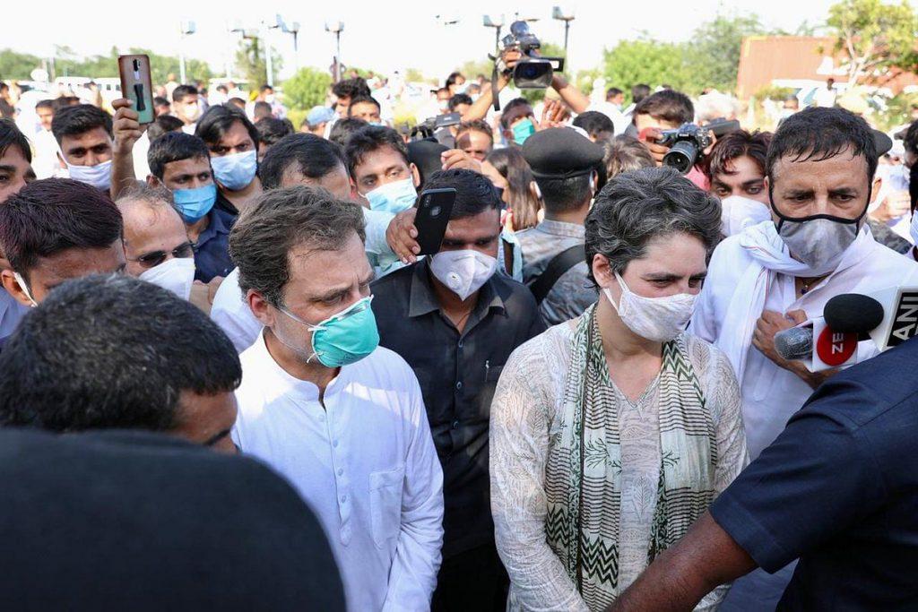 Rahul Gandhi arrest, Hathras