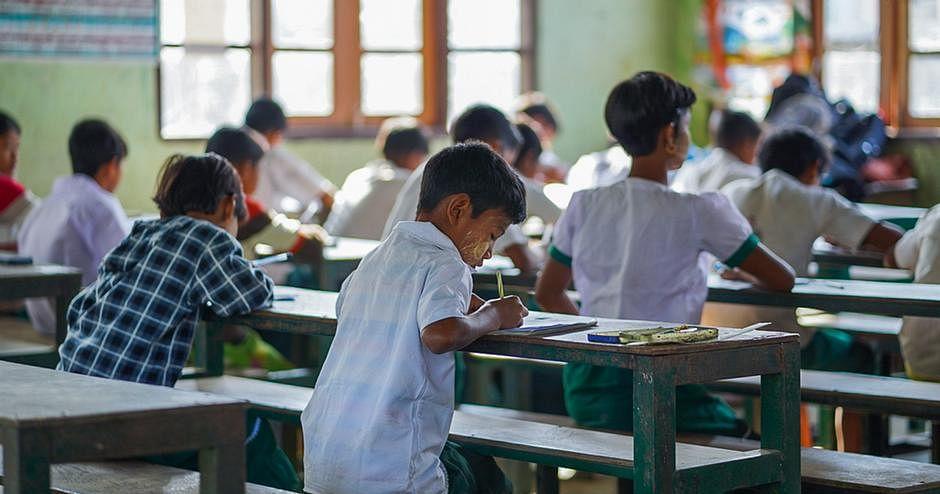 classroom for underprivileged students, University of Hyderabad