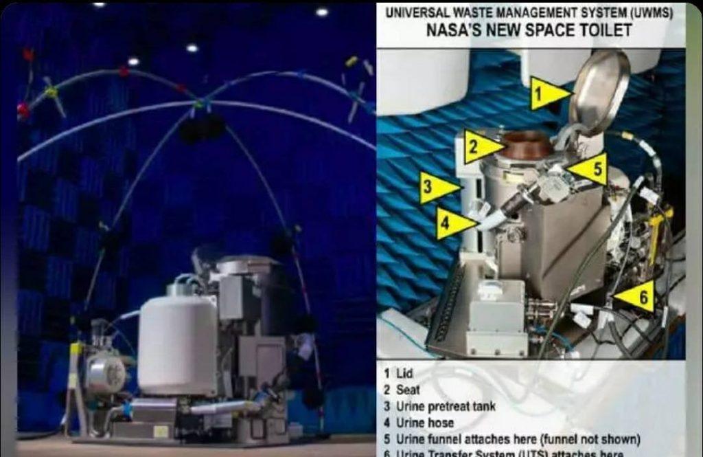 Titanium space toilet, NASA
